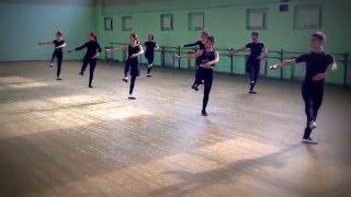 Упражнения на середине зала-урок классического танца
