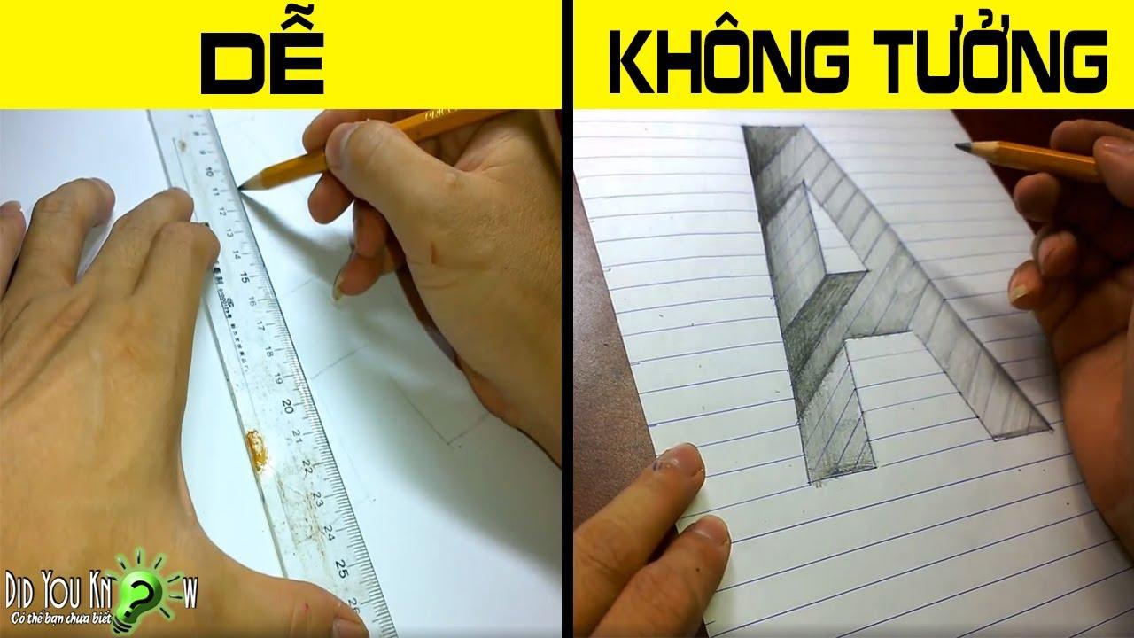 Cách Vẽ Chữ A Lún Sâu Xuống Vực Thẳm – Nghệ thuật 3D lừa tình | Có thể bạn chưa biết?