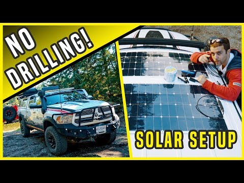 Solar Panel Camping Setup - How to Install Solar Power Without Drilling
