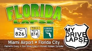 Miami to Florida City on the Palmetto Expressway, Don Shula Exwy.
