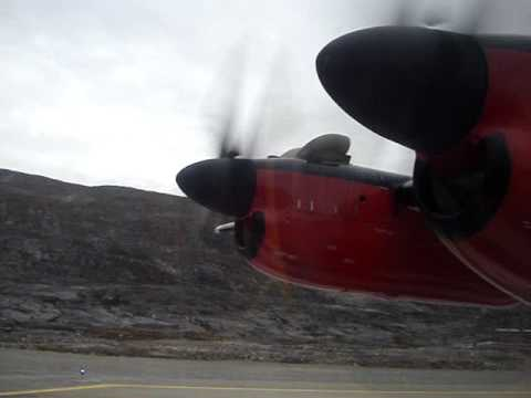 Air Greenland Takeoff from Nuuk