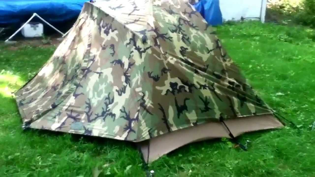USMC 2 man combat tent made by Eureka & USMC 2 man combat tent made by Eureka - YouTube