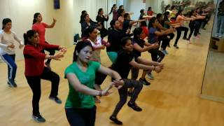 Best Aerobics punjabi zumba group dance video- Angreji Wali Madam by Kulwinder Billa