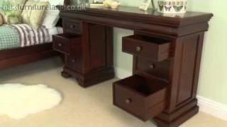 Sleigh Solid Mahogany 6+3 Drawer Dressing Table/computer Desk From Oak Furniture Land