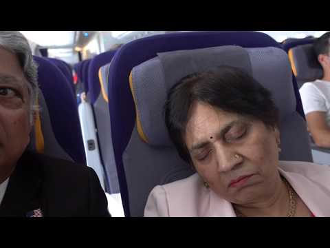 Aruna & Hari Sharma takeoff Lufthansa 380 Flight LH441 from IAH Houston to Frankfurt, Mar 18, 2018