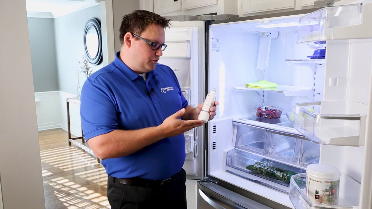 how to replace the water filter in your lg french door refrigerator filter model np lt700p  [ 1280 x 720 Pixel ]
