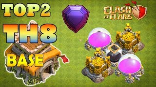 Top 2 Town Hall 8 Trophy Base 2018 | CoC Th8 Best Trophy Pushing Layouts - Clash of Clans