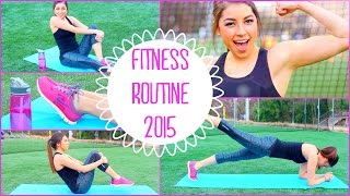 Fitness Routine 2015 | No Equipment Needed + Fast Abs!(Hey guys! I hope you enjoy this fitness routine and it hopefully helps you get toned or lose weight if that's your goal! *SKIP to 3:12 to begin the fitness routine!, 2015-02-10T17:42:02.000Z)