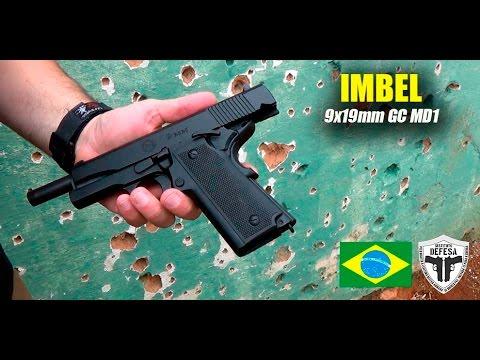Pistola IMBEL 9x19mm GC MD1