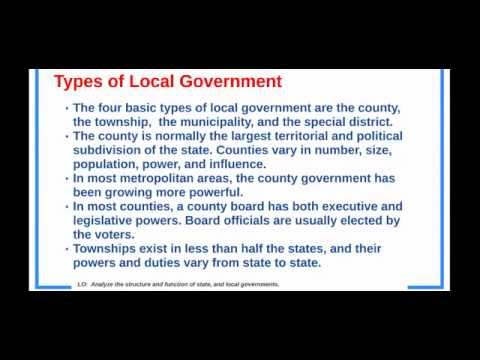 Structure and Function of Local Government