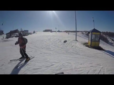 Катание на горнолыжном склоне СК Хабарское. It is my skiing at ski resort Habarskoe.