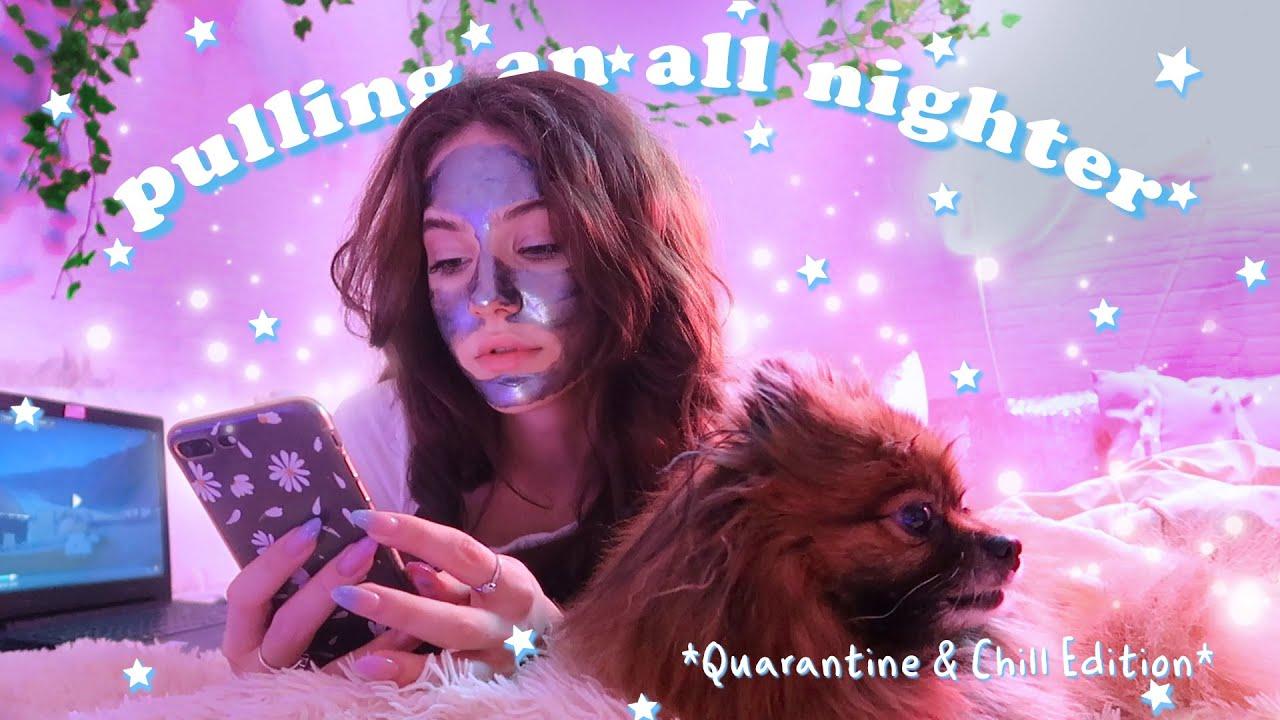 Не сплю всю ночь || pulling an all nighter *quarantine edition* (chill version)