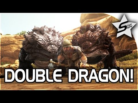 "ARK: SCORCHED EARTH Gameplay Part 5 - ""DOUBLE THORNY DRAGON TAMING!"" (ARK Survival Evolved DLC)"