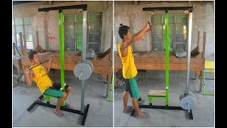 HOMEMADE LAT PULLDOWN MACHINE WITH MEASUREMENT