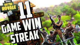 EPIC 11 GAME WIN STREAK! W Dakotaz, CDNThe3rd, and HighDistortionTV (Fortnite Battle Royale)