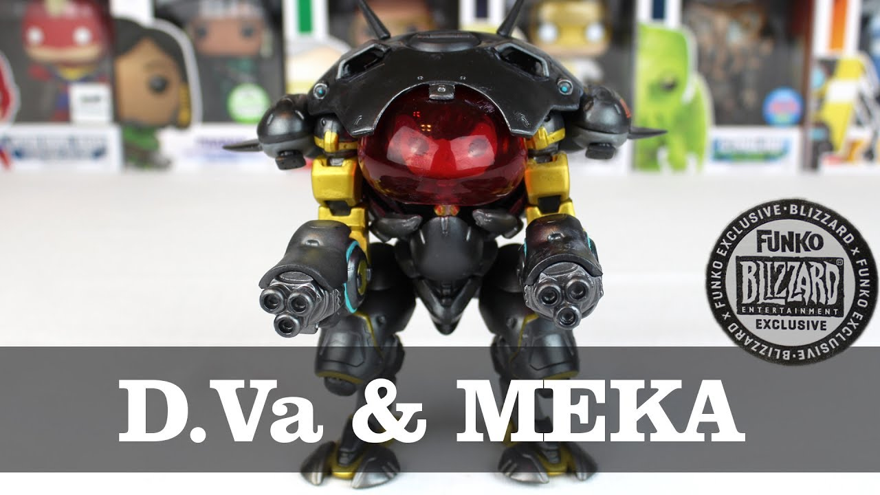 Overwatch Blizzard Store Exclusive Carbon Fiber DVa With MEKA Funko Pop Unboxing YouTube