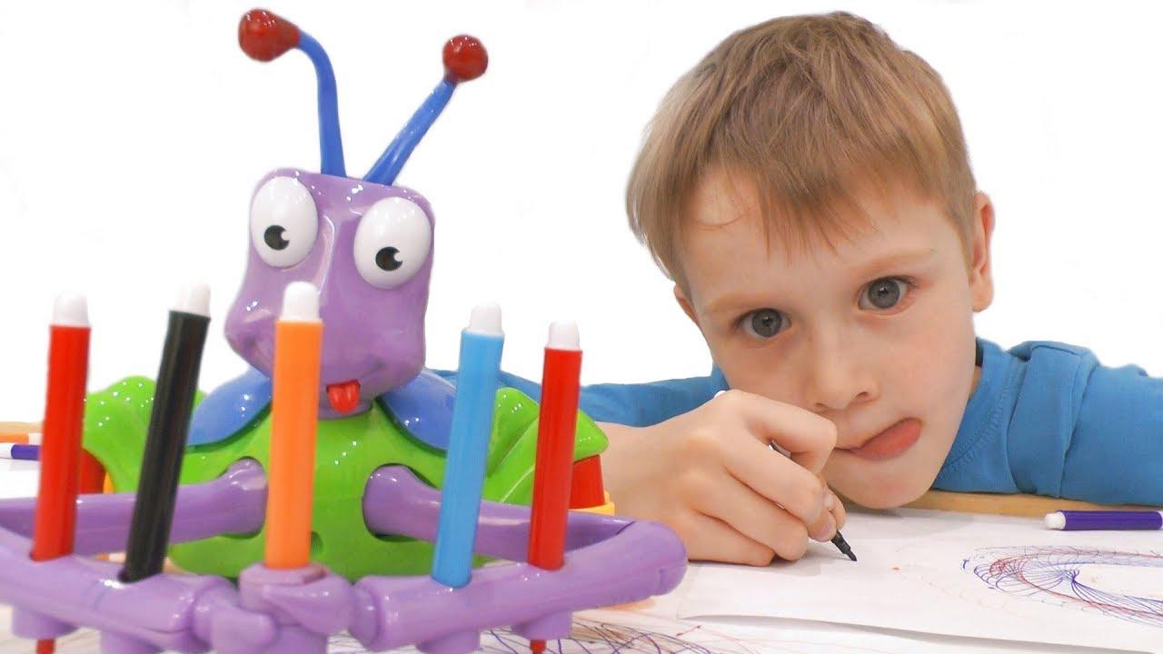 Видео для детей  Распаковка игрушки Муравей художник