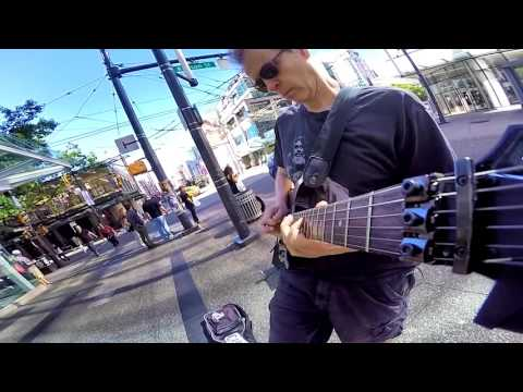 The Six Million Dollar Guitar - Live on Granville Street - Vancouver Aug 11/2016