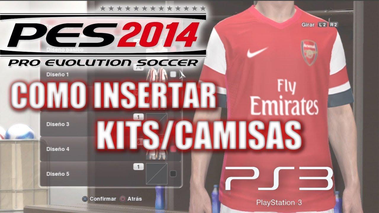 d843a3bdad PES 2014 Tutorial  Como insertar KITS CAMISAS para PS3 (Premier ...