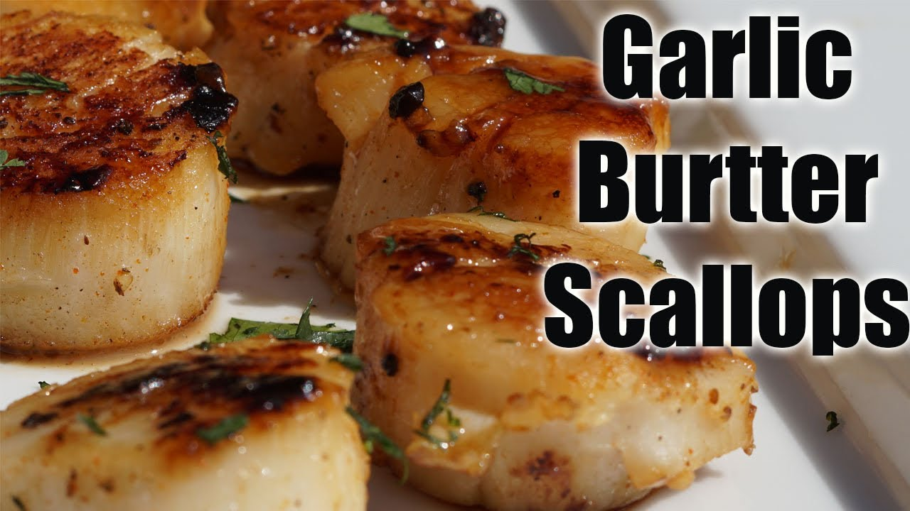 EASY LEMON GARLIC BUTTER SCALLOPS| EASY SCALLOPS RECIPE