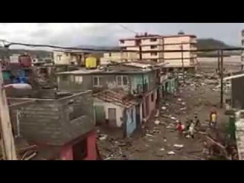 Huracan Matthew   -  Baracoa en Guantanamo Devastada