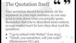 Quote Weaving
