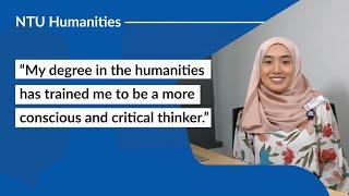 Career Options with NTU School of Humanities: Syarafina