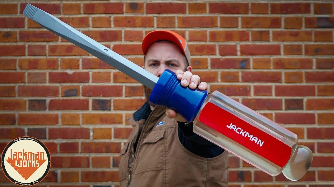 DIY Giant Epoxy Resin Handle Screwdriver / Boing Boing