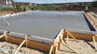 ЕВРО ФУНДАМЕНТ.Технология плитного фундамента из бетона