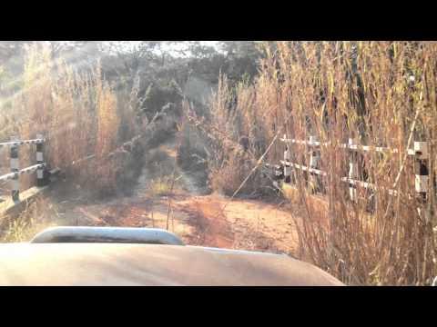 Road into Lower Zambezi National Park