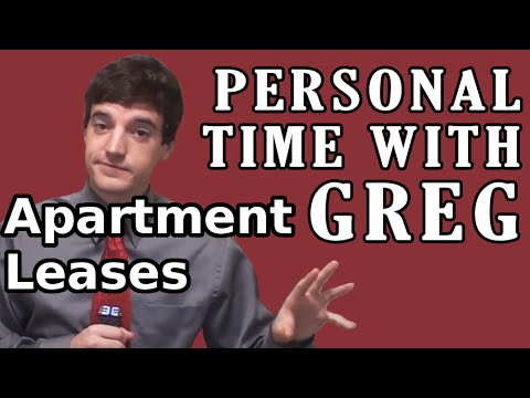 Personal Time With Greg: Apartment Leases