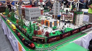 LEGO Display at the Great Edmonton Train Show 2019