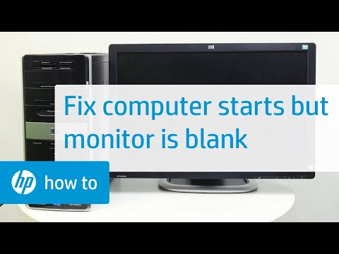 The Computer Starts but the Monitor Remains Blank in