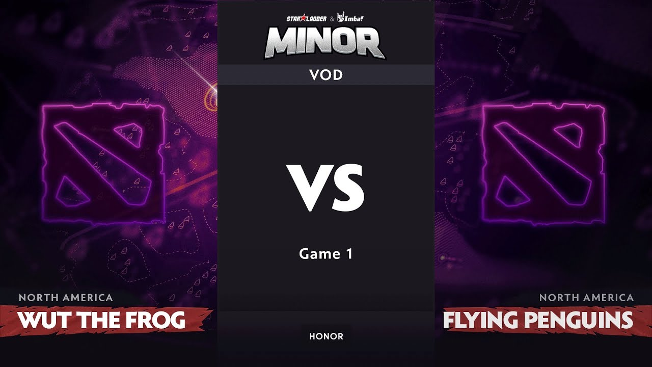 [RU] wut the frog vs Flying Penguins, Game 1, NA Qualifiers, StarLadder ImbaTV Dota 2 Minor