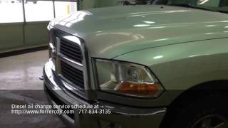Chrysler Jeep Dodge Ram diesel oil change near me in Mexico PA