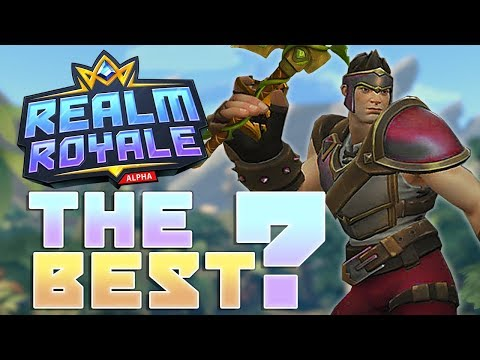 Realm Royale Best Class to Play?! (Paladins Battlegrounds / Royale Gameplay Victory)