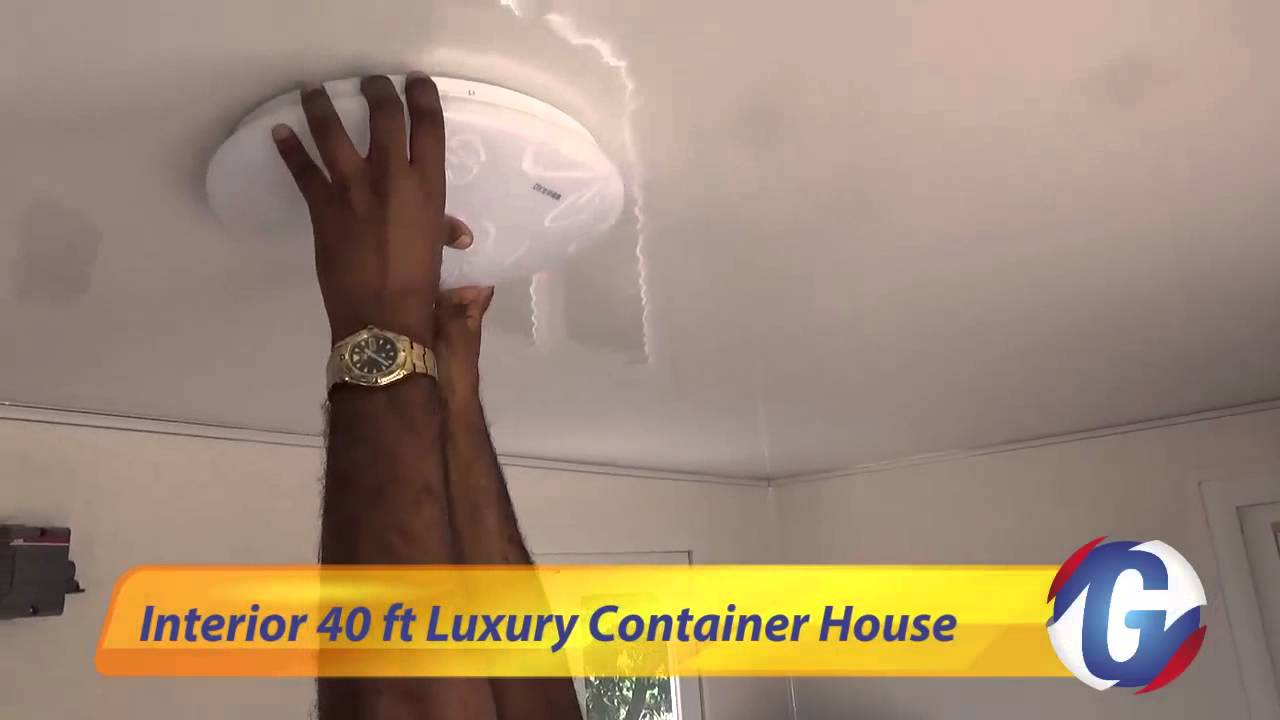 40 ft luxury container house interior - youtube