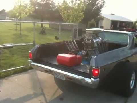 Rear engine elcamino project moving