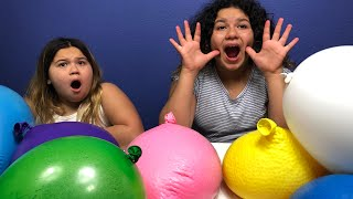 POPPING GIANT BALLOONS FILLED WITH ORBEEZ CHALLENGE 2