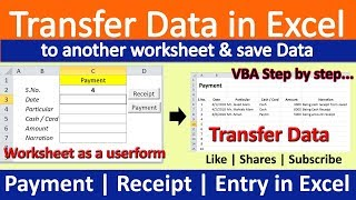 How to Transfer Data worksheet to another worksheet Automatically using VBA