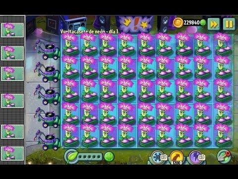 Plants Vs Zombies 2 Una Multitud de Plantas DJ Demuestran Su Poder a los Zombies