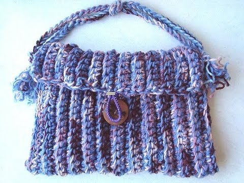How To Crochet A Handbag : How to crochet a handbag. - YouTube