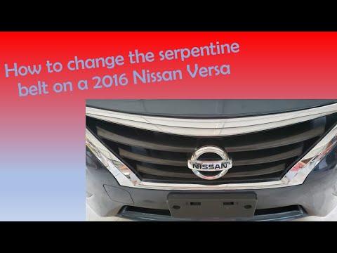 How to replace a 2016 Nissan Versa serpentine belt