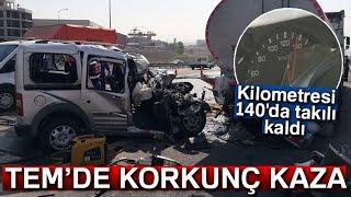 Tem'de Feci Kaza, Kilometre İbresi 140'da Takılı Kaldı: 2 Ölü
