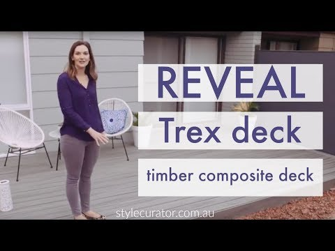 reveal of our island mist trex deck at bonnie s house