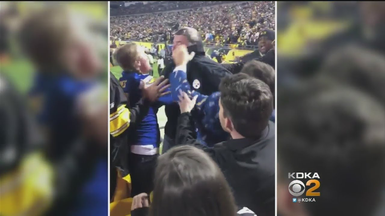 Video: Steelers Fan Chokes Pregnant Chargers Fan During Game
