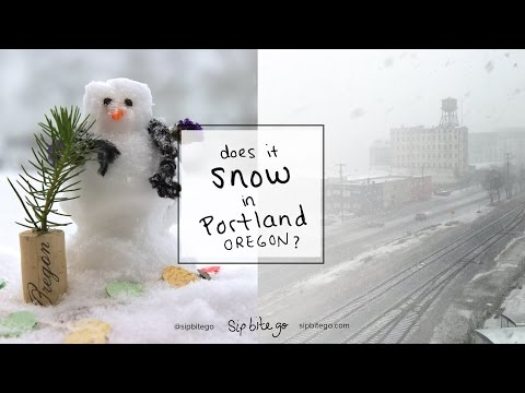 Snow in Portland Oregon - December 2016 Weather - Does it snow in Portland Oregon? YES!