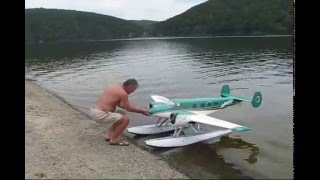 Beechcraft 18 seaplane maiden flight