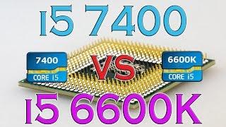 i5 7400 vs i5 6600k benchmarks gaming tests review and comparison kaby lake vs skylake