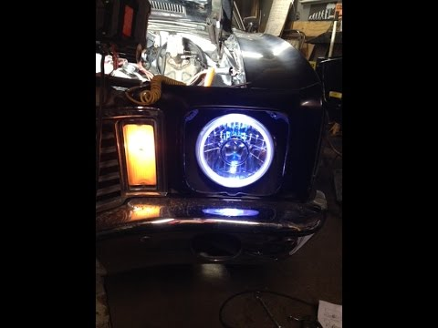 Installing Led Halo Hid Headlights On 1972 Monte Carlo